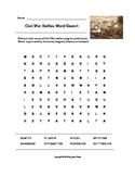 Civil War Battles Word Search (Grades 4-5)