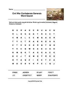 Civil war confederate generals word search grades 4 5 by big ideas civil war confederate generals word search grades 4 5 ibookread Read Online