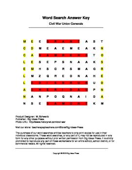 Civil war union generals word search grades 4 5 by big ideas press civil war union generals word search grades 4 5 ibookread Read Online