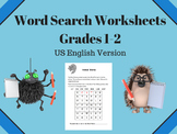 Word Search Worksheets - Grades 1 - 2 -  US English Version