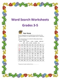 Word Search Worksheets for Very Busy Teachers Grades 3-5
