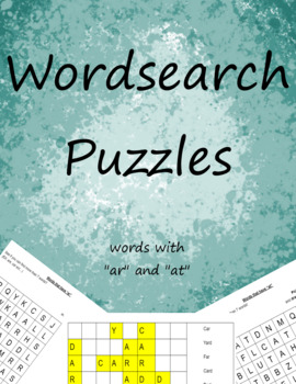"""Word Search: """"ar"""" and """"at"""" words"""