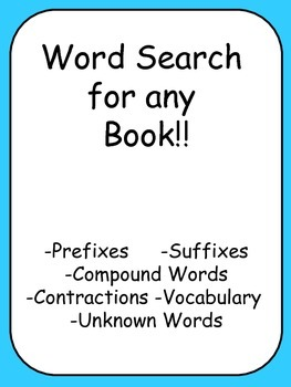 Word Search for any Book!!
