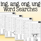 Word Search: Glued Sounds (ing, ang, ong, ung)