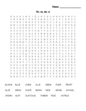 Word Search (oo, ew, ue, ui) and (oo, u)