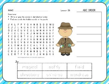 Word Search with ABC Order Unit 6 Bundle - 1st Grade