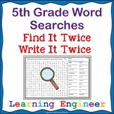 5th Grade Morning Work Word Searches Spelling Practice