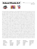 BACK TO SCHOOL - Difficult Word Searches - School Words (could use in SUB PLAN?)