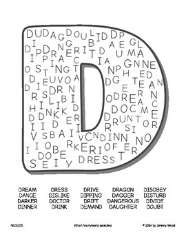 Word Searches: Alphabet