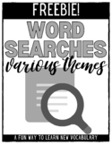 Word Searches - FREEBIE