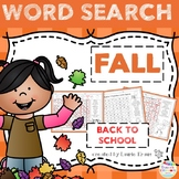 Word Search - Fall / Back to School Theme
