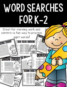 Word Searches!  Find the Words for K-2