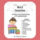 Word Searches- Holidays & Seasons (No Prep Work- Print & Use)