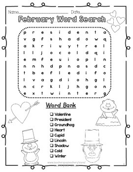 Word Searches Monthly Leveled Bundle Pack 2 Versions/Month