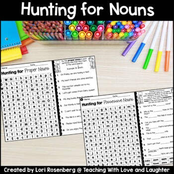Word Searches {Types of Nouns}