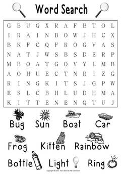 Word Searches for Emergent Readers