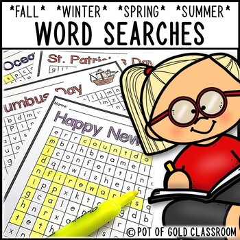 Seasonal Word Searches - ALL YEAR LONG