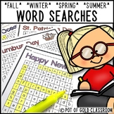 Seasonal Word Searches - Fall Winter Spring Summer