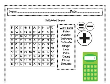 Word Searches for Months and Seasons