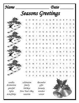 Word Searches for Multiple Holidays