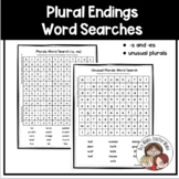 Word Searches for Practicing Plural Endings (-s, -es and unusual plurals)
