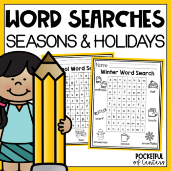 Word Searches for Seasons and Holidays