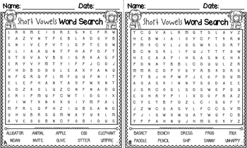 Word Searches for Words Their Way - Elementary Inventory *Print & Go* Legal Size