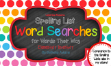 Word Searches for Words Their Way - Elementary Inventory *