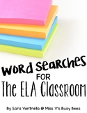 Word Searches for the ELA Classroom
