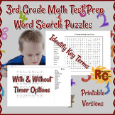 3rd Grade Key Math Terms Word Searches