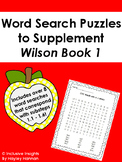 Word Search Puzzles to Supplement Wilson Book 1