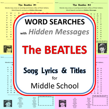 Word Searches with a Hidden Message: The Beatles for Middl
