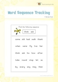 Word Sequence Tracking (1st Grade)