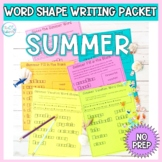 Word Shape Puzzles: Summer Packet NO PREP