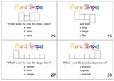 Word Shape Task Cards