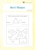 Word Shapes (1st Grade)