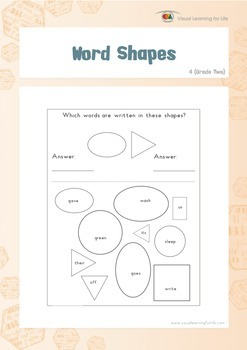 Word Shapes (2nd Grade)
