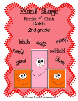 Word Shapes - Puzzles and Cards!  Dolch 2nd Grade