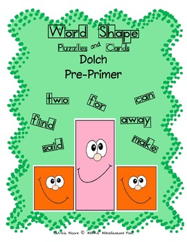 Word Shapes - Puzzles and Cards!  Dolch Pre-Primer