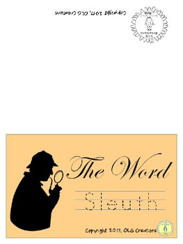 "Word Sleuth ""Cursive Clues"" Reading Game"