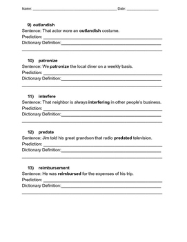 Word Sleuth: Dictionary and Context Clues Worksheet