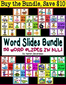 Word Slide FREEBIE:  -ale family  (Word Families Activity)