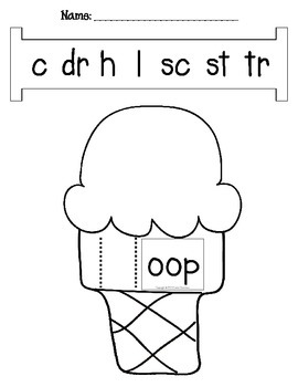 Word Slide FREEBIE:  -oop family (Word Families Activity - Long o)