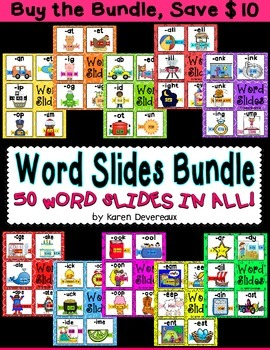 Word Slide FREEBIE:  -ut family  (Word Families Activity)