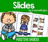 Word Slides- Positive and Negative Choices -FREE