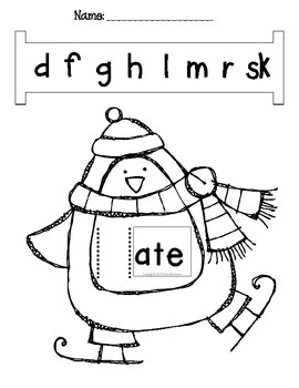 Word Slides Set 5: age, ake, ale, ape, ate  (Word Families Activity)
