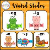 Word Slides Set 1: at, en, ig, og, ug  (Word Families Activity)