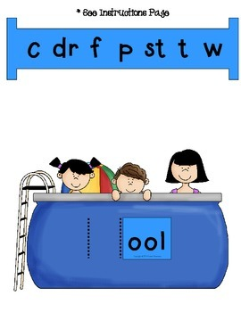 Word Slides Set 10: ook, ool, oon, oop, oot  (Word Families Activity)