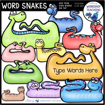 Word Snakes Clip Art - Whimsy Workshop Teaching