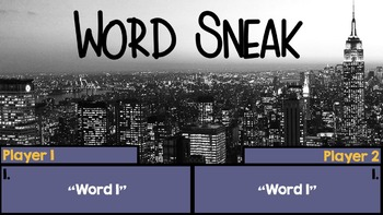 Word Sneak Vocabulary Game Template to Use with ANY Subject!